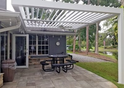 Home louvered roof