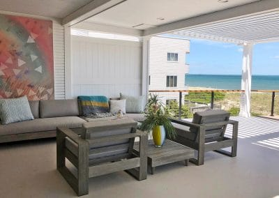Beachfront louvered roof