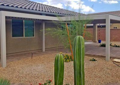 Desert louvered roof