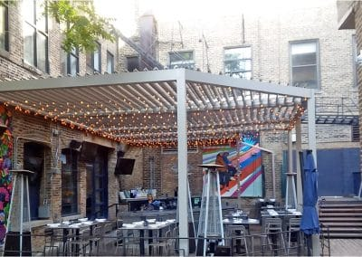Cafe louvered roof