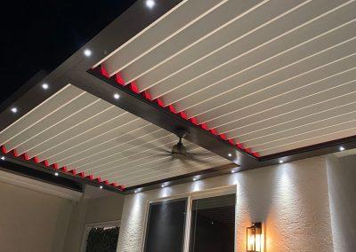 LED Sundance Louvered Roof