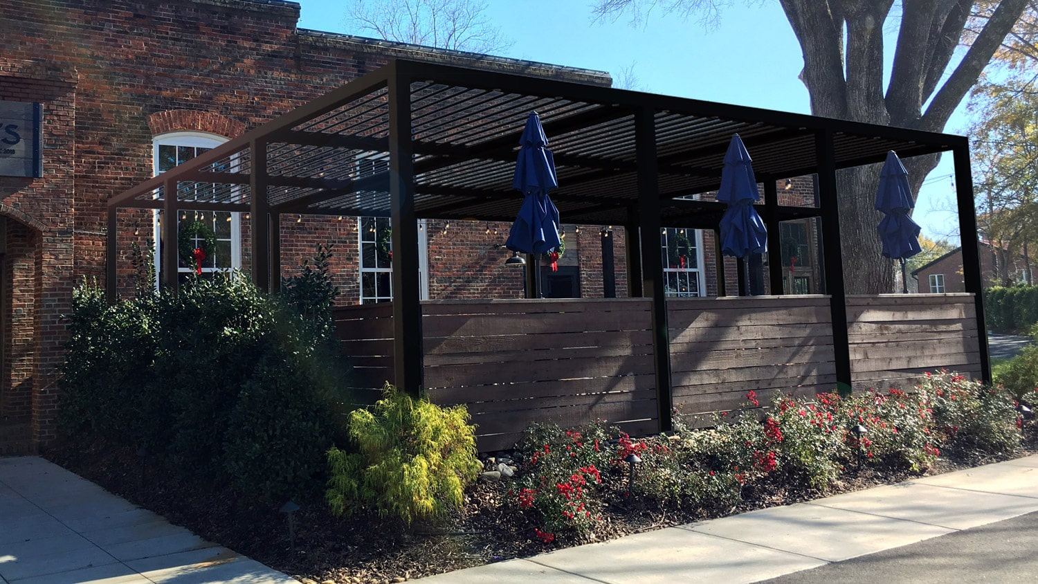 bistro louvered roof