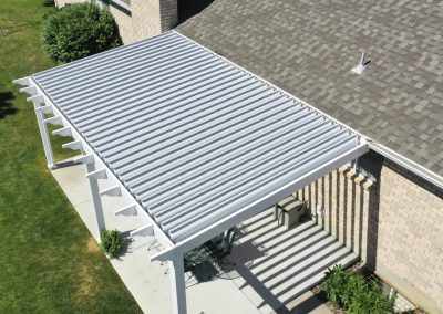 Patio cover top angle